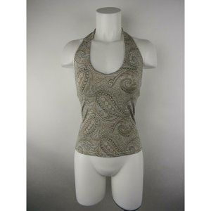 The Limited Nylon Spandex Stretch Paisley Tank Top